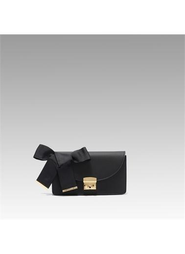 Black Ribbon Kilitli Bel Çantası Siyah